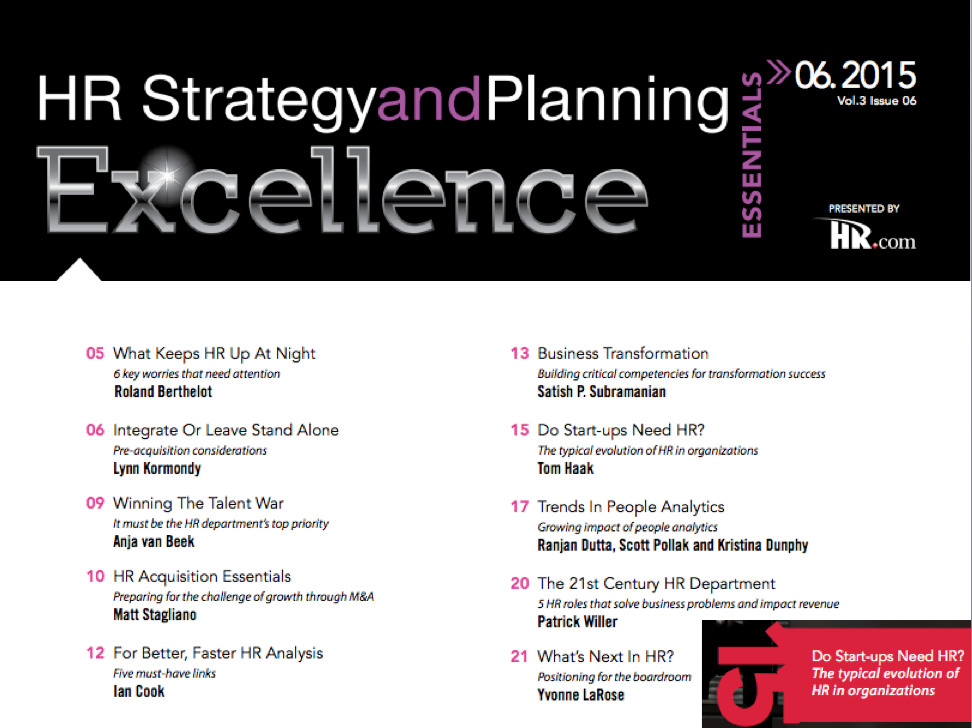 HR Strategy and Planning Excellence