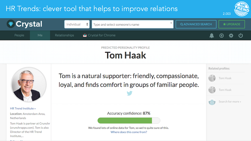 Profile Tom Haak Crystal