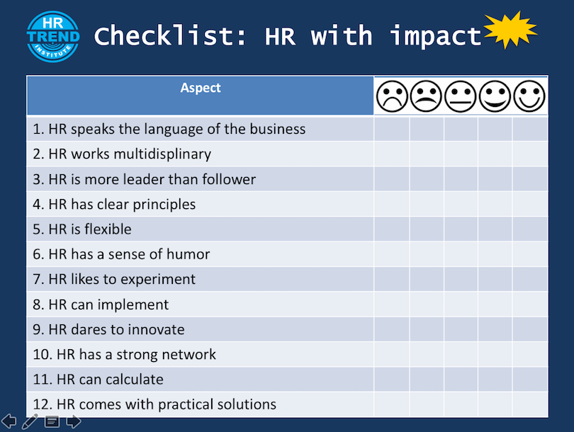 Checklist HR with impact