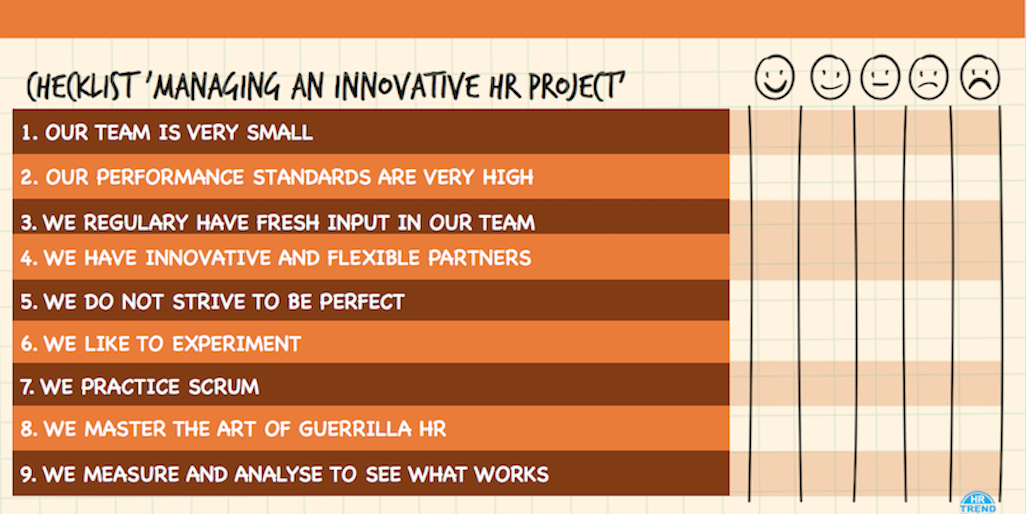 Managing an innovative HR ptoject